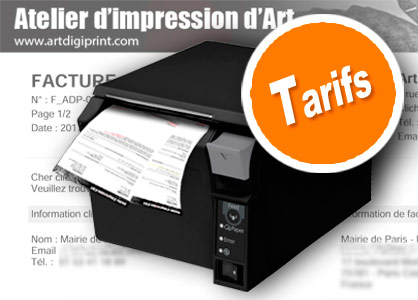 Tarif impression tirage fineart